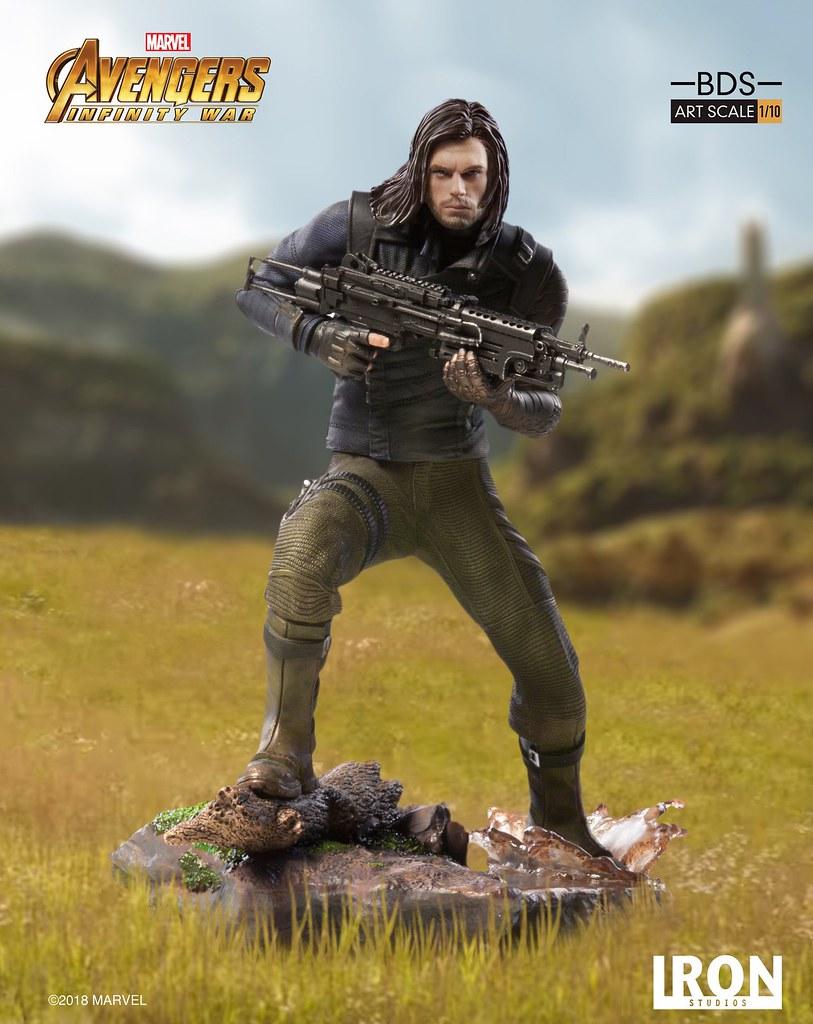 「這隻手臂多少錢?」Iron Studios Battle Diorama 系列《復仇者聯盟3:無限之戰》酷寒戰士 Winter Soldier 1/10 比例決鬥場景雕像作品