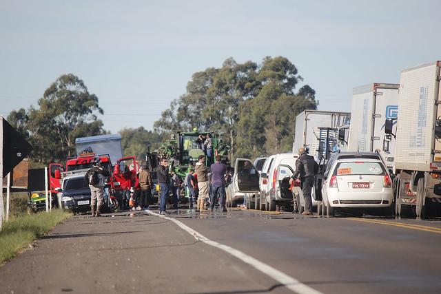 Greve dos caminhoneiros chega ao oitavo dia - Créditos: Foto:Marcelo Pinto/APlateia