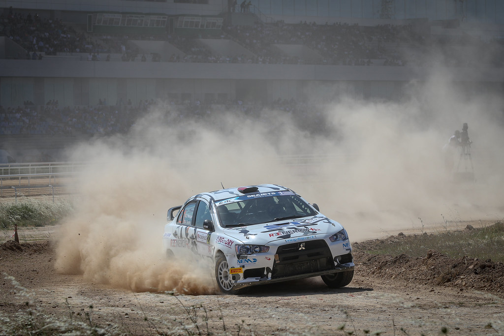 21 MELEGARI Zelindo (ita), CECCHI Andrea Marco (ita),  Mitsubishi Lancer EVO X, action during the European Rally Championship 2018 - Acropolis Rally Of Grece, June 1 to 3 at Lamia - Photo Alexandre Guillaumot / DPPI