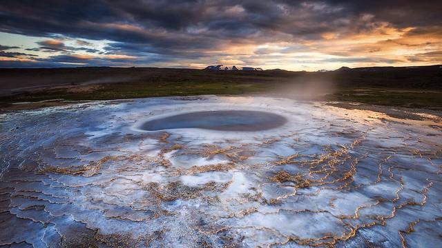 Boiling pool, Iceland