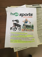 "My very elderly father needs a walker but was afraid it would make him look ""disabled,"" so I made a fake ad for a ""sports"" walker to make him happy"