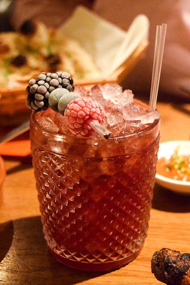 Bourbon Berry Cocktail at Roti Chai, Marylebone #indian #smallplates #marylebone #london