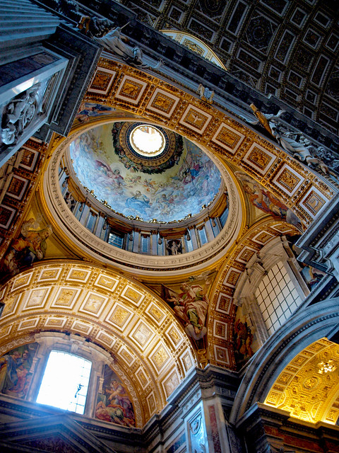 Dome of the Chapel of the Baptistery in Saint Peter's Basilica