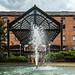 Fountain outside the Victoria & Albert Hotel, Castlefield
