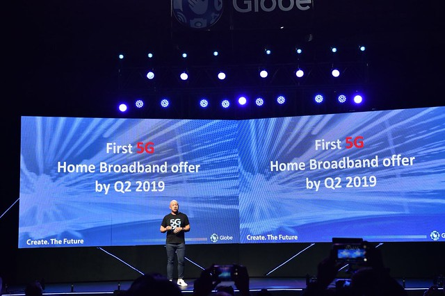 Globe President and CEO Ernest Cu announces Globe to be among the 1st carriers to commercially rollout 5G services in the Philippines.