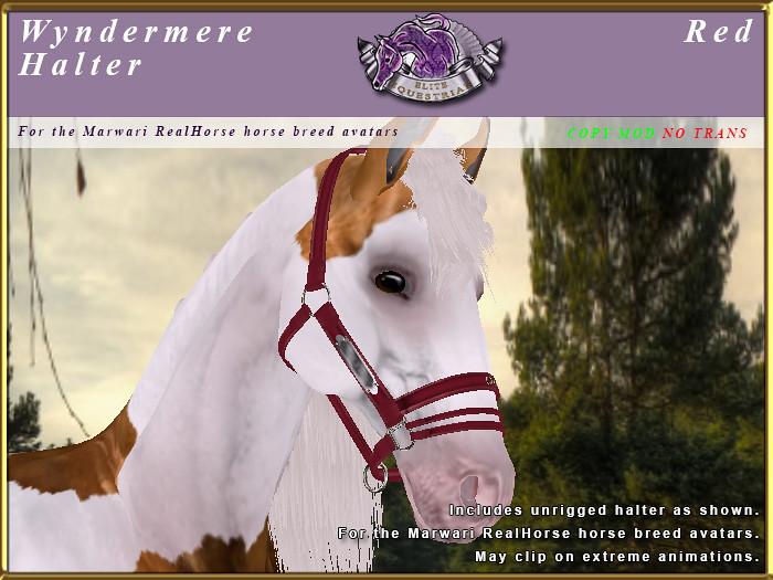 E-RH-Marwari-WyndermereHalter-Red - TeleportHub.com Live!
