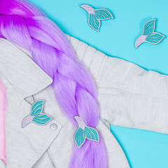 mermaid tail hair flair
