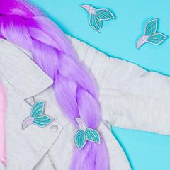 mermaid tail hair flair