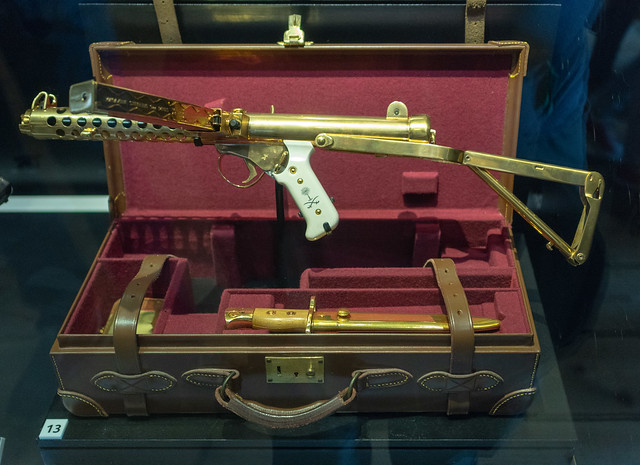 Gold-Plated and Cased Sub-Machine Gun
