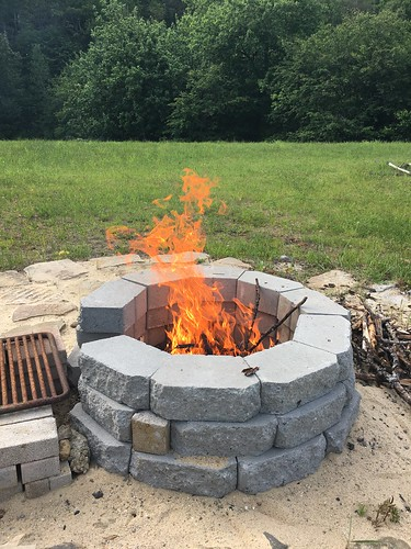 Got the fire pit going