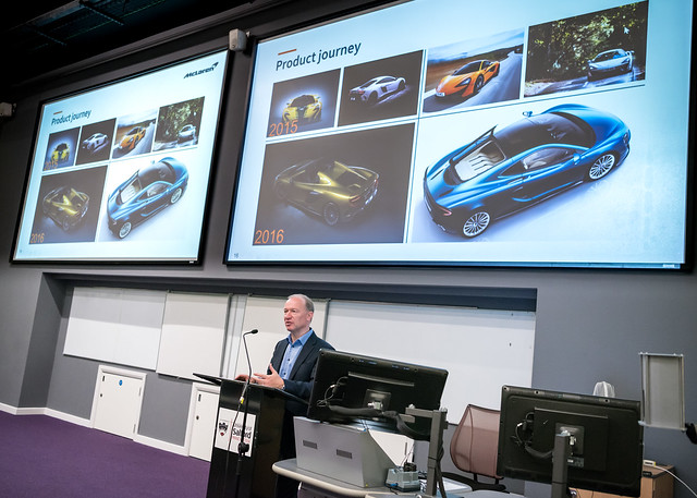 "Mike Flewitt, CEO McLaren Automotive lecture ""Driving change: Challenges and Opportunities in the Automotive Industry"" - University of Salford"