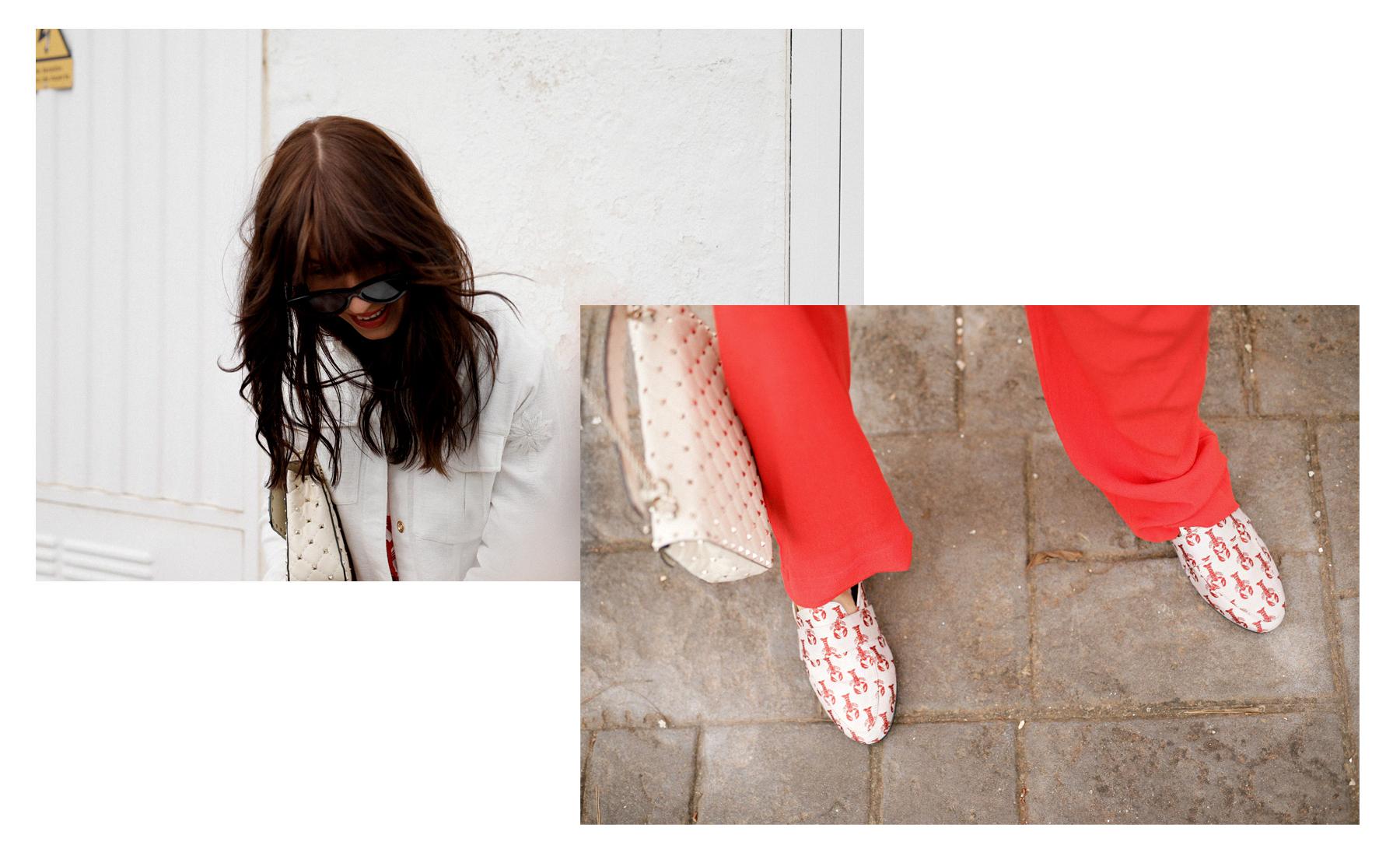 fabienne chapot lobster shirt slippers red white style mallorca cala d'or spain summer fashion spring 2018 modeblog modeblogger catsanddogsblog ricarda schernus styleblogger german fashionbloggers max bechmann fotografie düsseldorf 3