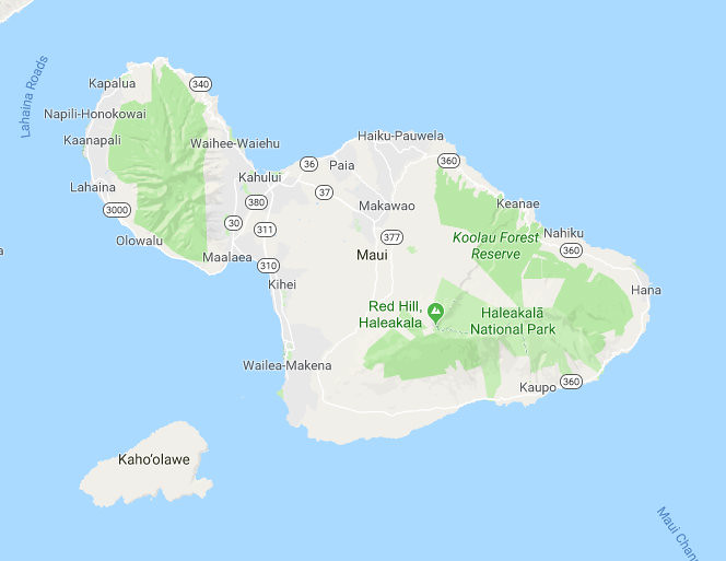 Maui Mapa