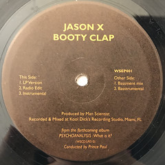 PRINCE PAUL:BOOTY CLAP(LABEL SIDE-A)