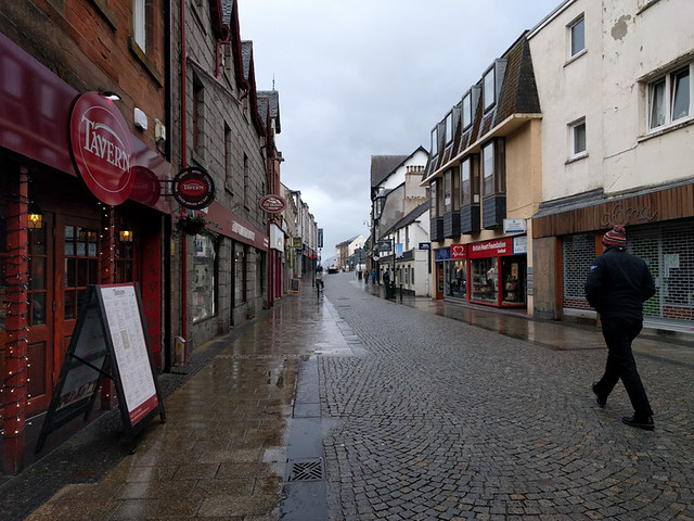 pedestrian street in Fort William
