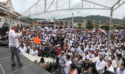 Gira de AMLO en Chiapas