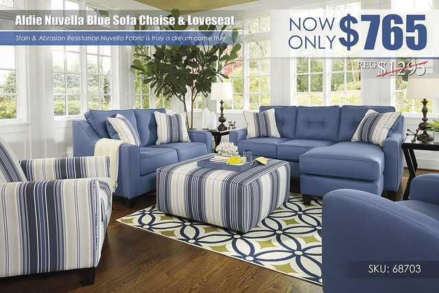 Aldie Nuvella Blue Sofa Chaise & Loveseat_68703-18-35-21-30-08