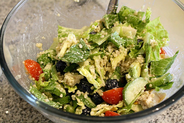 Blueberry Quinoa Chicken Salad