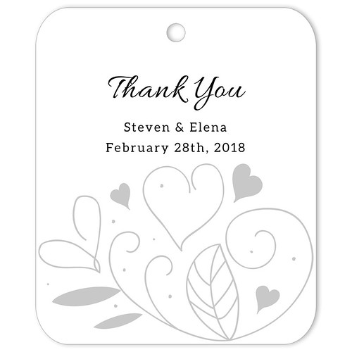 Country Summer White Thank You Favor Tag (Set of 25 pcs)
