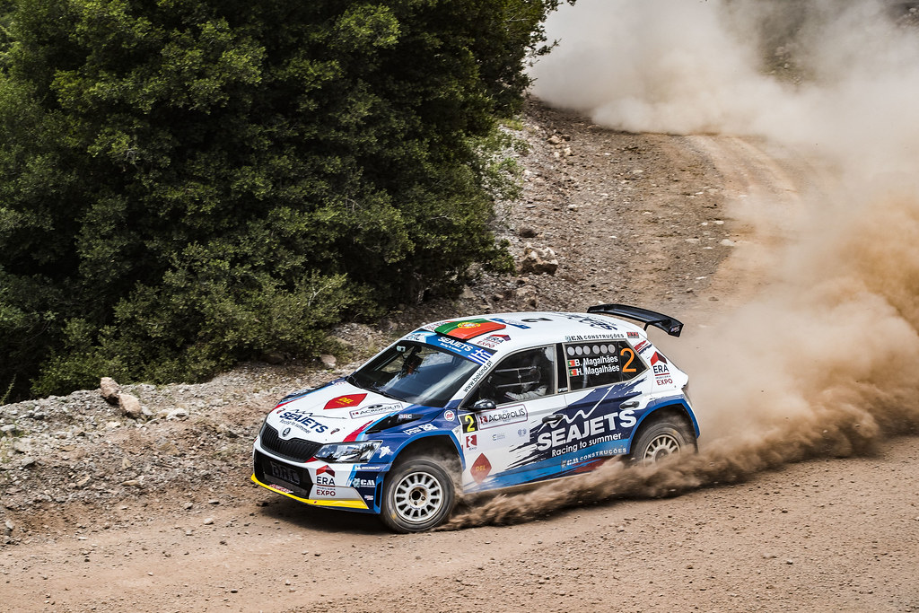 02 MAGALHAES Bruno (prt), MAGALHAES Hugo (prt), SKODA FABIA R5, action during the European Rally Championship 2018 - Acropolis Rally Of Grece, June 1 to 3 at Lamia - Photo Gregory Lenormand / DPPI