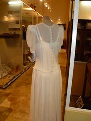 Jean Davies wedding gown back detail 1945