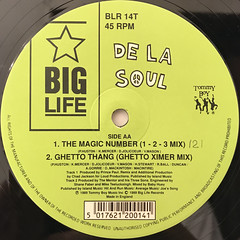 DE LA SOUL:BUDDY, MAGIC NUMBER(LABEL SIDE-B)