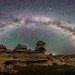The Milky Way over Writing-on-Stone