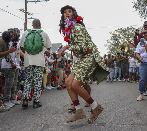 Treme Sidewalk Steppers - Jan. 21, 2018. Photo by Jamell Tate.
