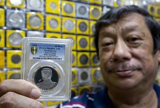 North Korean coin slab