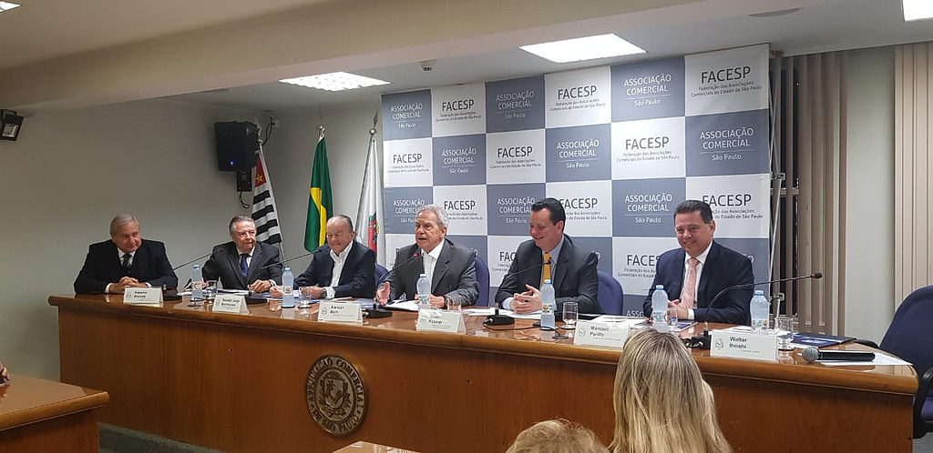 Sessão Plenária Conjunta do Conselho Político e Social e do Conselho de Economia da Associação Comercial de São Paulo.