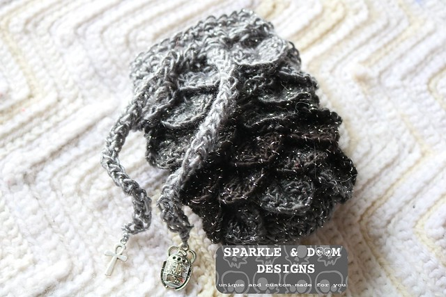 RTS Dragon Dice Bag black grey egyptian 01e