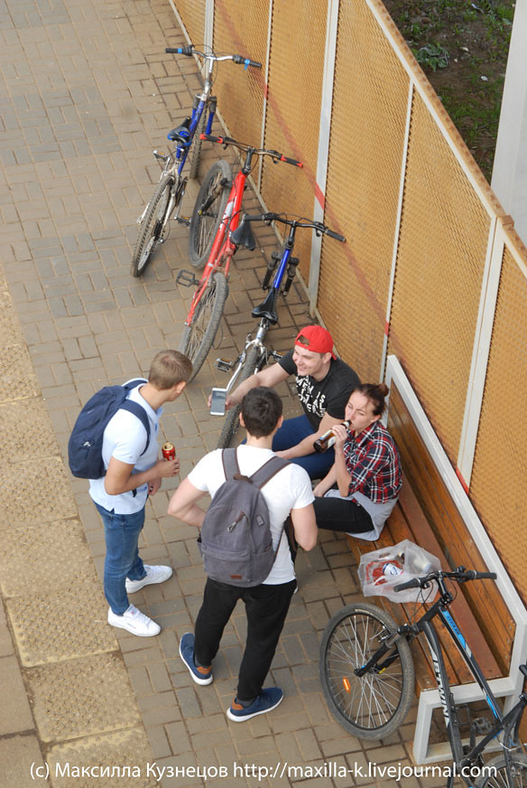 Велотуристы и пиво