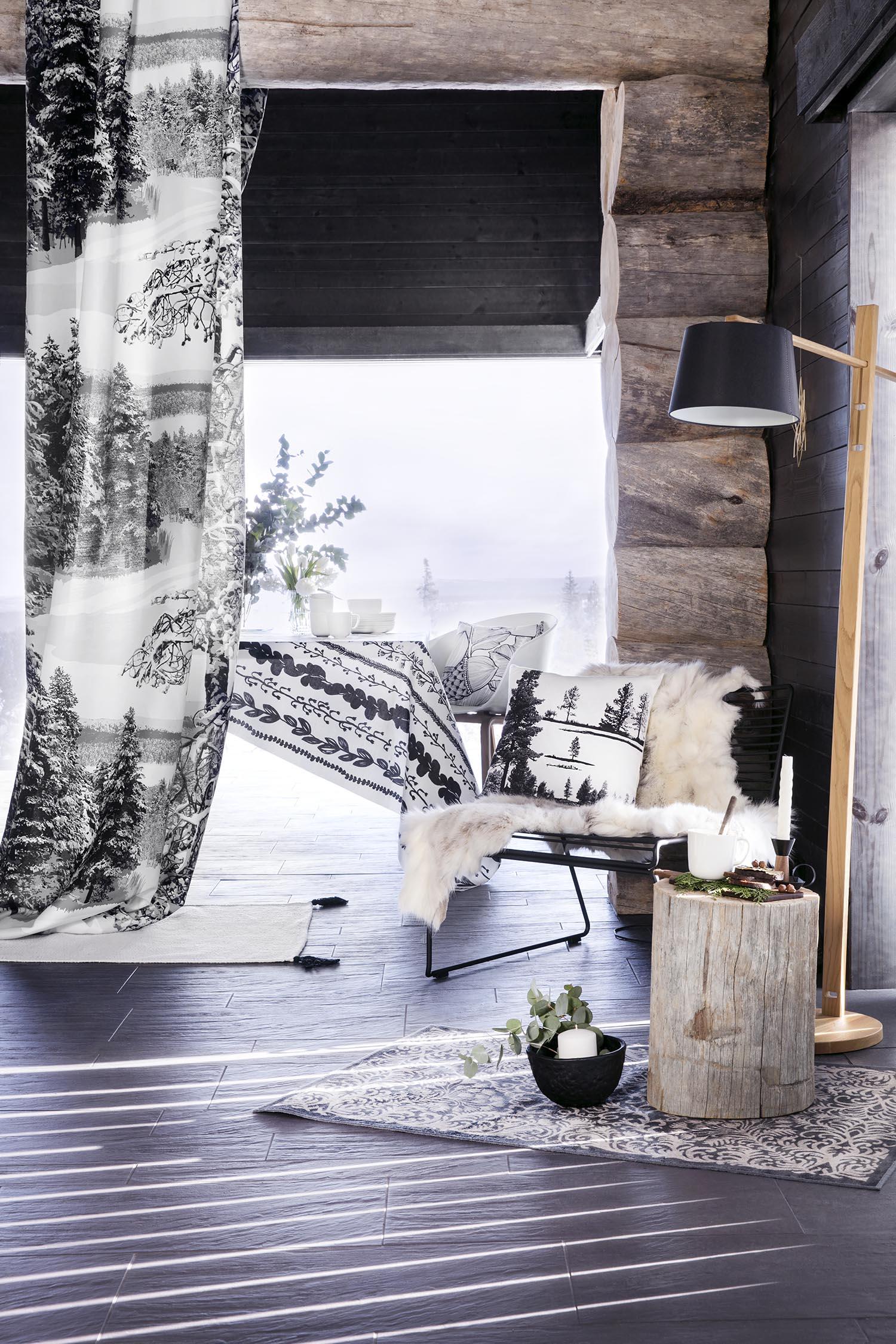 Vallila_AW18_Pohjoinen_Kasperi_fabric_Kero_Tammenterho_cushion_Ajaton_tableware_Aplodi_rug_photographerHennaSoronen
