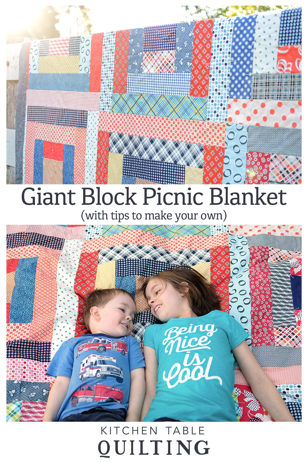 May Giant Block Quilt - Denyse Schmidt Picnic Quilt