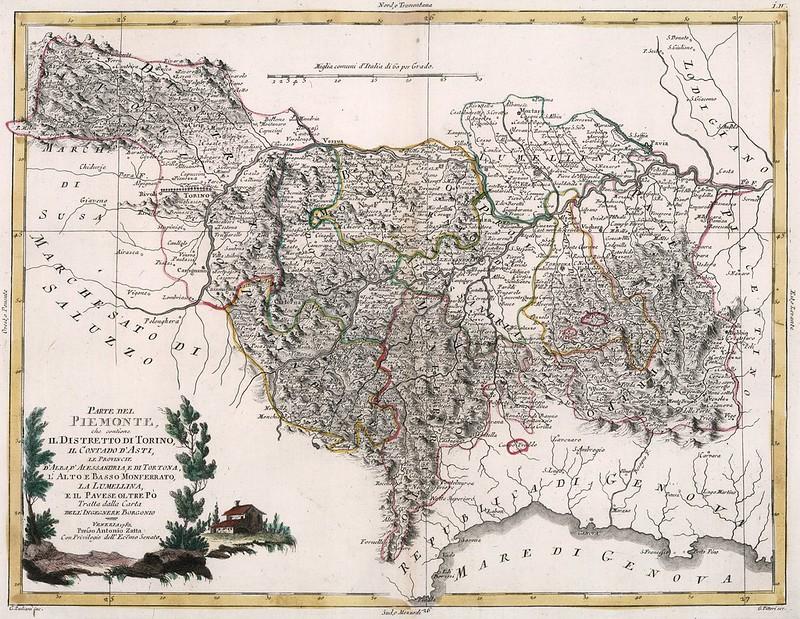 Antonio Zatta - Parte Del Piemonte, che contiene Il Distretto Di Torino (1782)