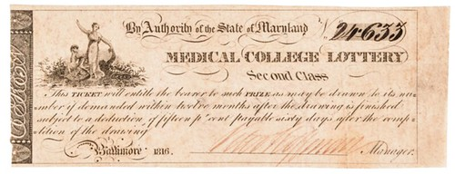 1816 Medical College Lottery ticket