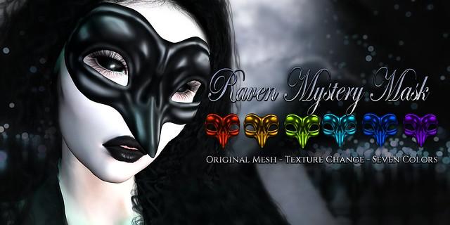 VENGE - Original Mesh - Raven Mystery Mask