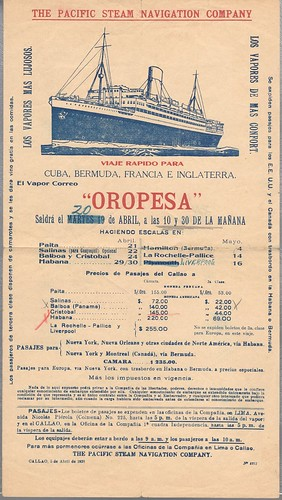 Brochure for a cruise in 1938