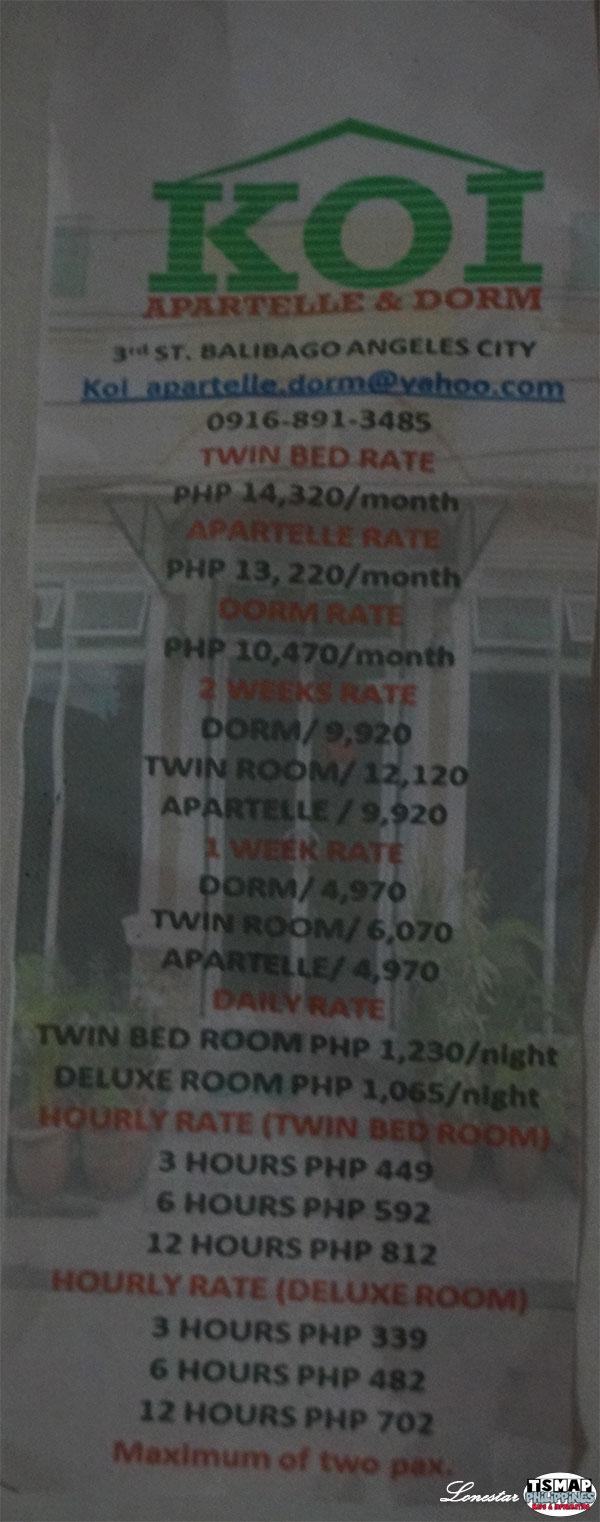 Koi Room Rate