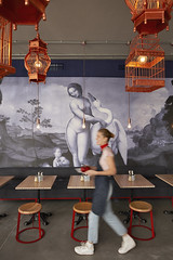 8. Leda and Swan mural, Swan Cafe, interior design by Haldane Martin photo by Micky Hoyle