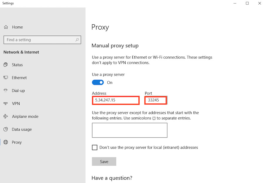 Step 5 how to configure Microsoft Edge browser for proxy servers