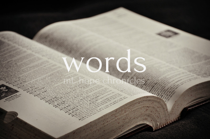 words @ Mt. Hope Chronicles