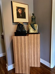 Zebrawood Reconstituted Wood Pedestal