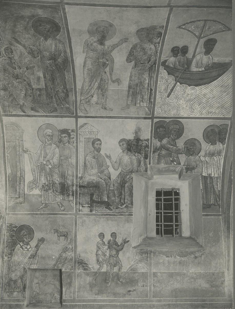 Фрески «Росписи, посвященные деяниям апостолов» Спасо-Преображенского собора Мирожского монастыря