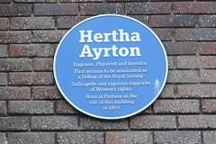 Photo of Hertha Ayrton blue plaque