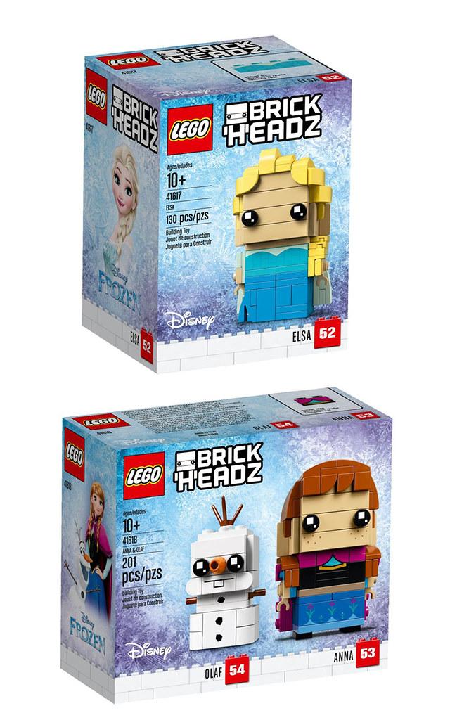 變成肥肥短短的雪寶太可愛啦~~ LEGO 41617、41618 Brickheadz 系列《冰雪奇緣》艾莎、安娜&雪寶 Elsa、Anna&Olaf