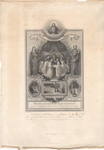 Souvenir print of First Communion