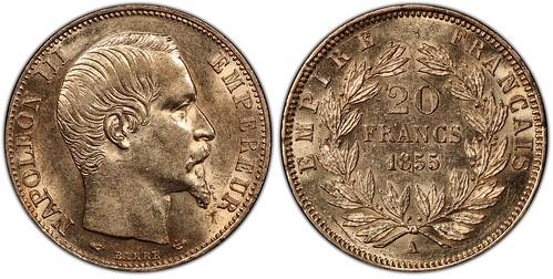 France 1855-A 20 Francs