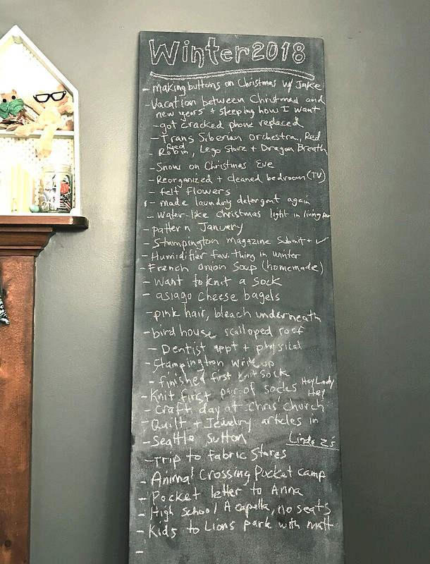 Chalkboard winter 2017- 2018