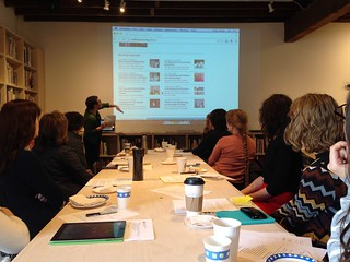 Spring 2014 meeting + Midway Contemporary Art gallery and library tour